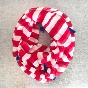 Accessories - Red White & Blue Lightweight Infinity Scarf